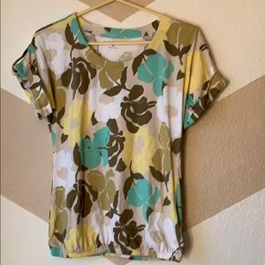 Croft And Barrow small petite  floral shirt
